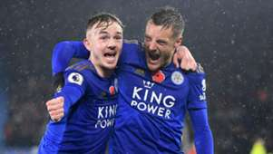 James Maddison Jamie Vardy Leicester vs Arsenal 2019-20