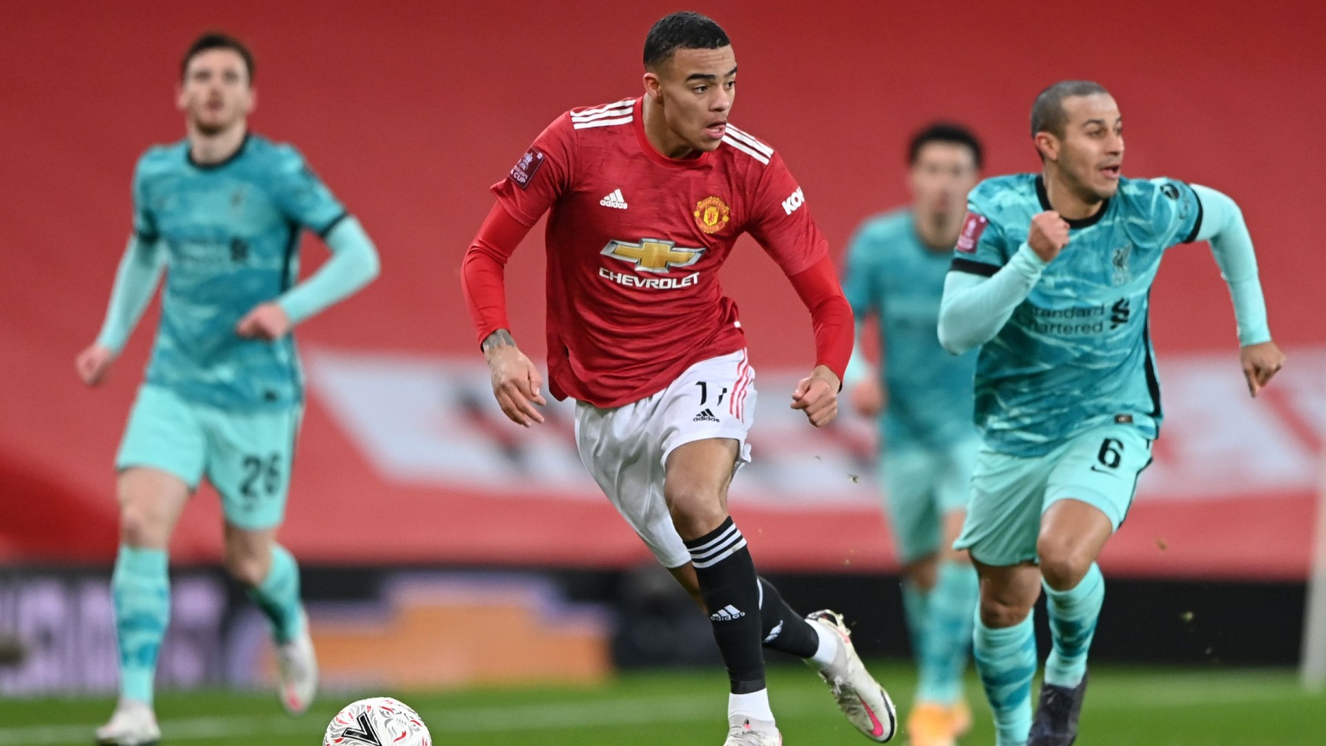 Greenwood matches Rooney mark as Manchester United continue to torment Liverpool in FA Cup