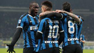 Inter atalanta 2020 Lautaro Lukaku Candreva