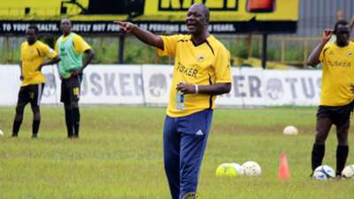 Tusker coach Robert Matano in Ruaraka