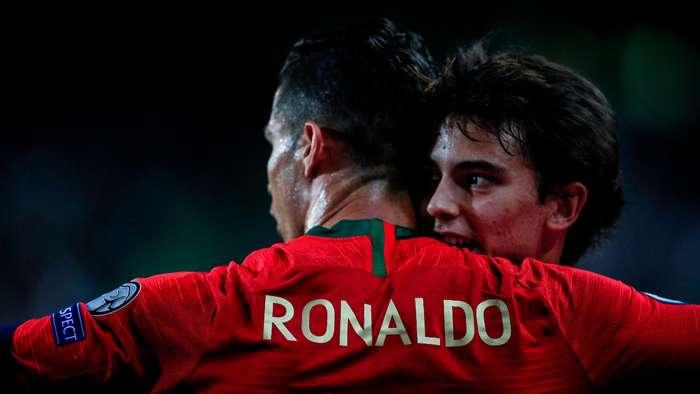 Joao Felix Cristiano Ronaldo Portugal 2019-20