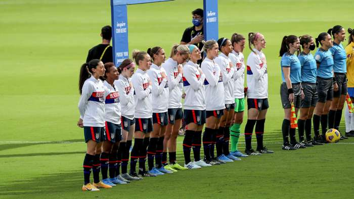 USWNT anthem Brazil SheBelieves Cup