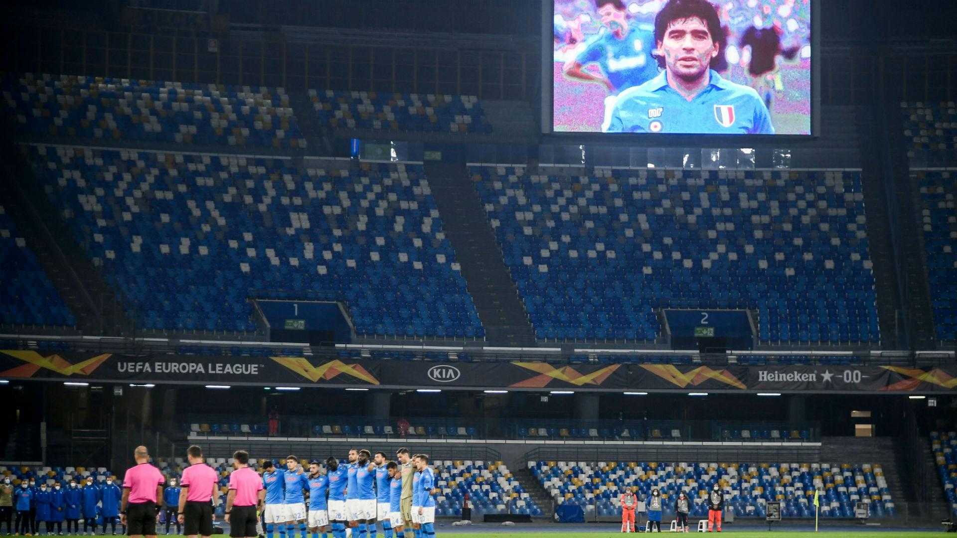 El conmovedor homenaje de Napoli en el San Paolo para Diego Maradona |  Goal.com