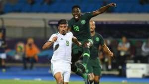 Kenneth Omeruo, Baghdad Bounedjah - Algeria vs Nigeria