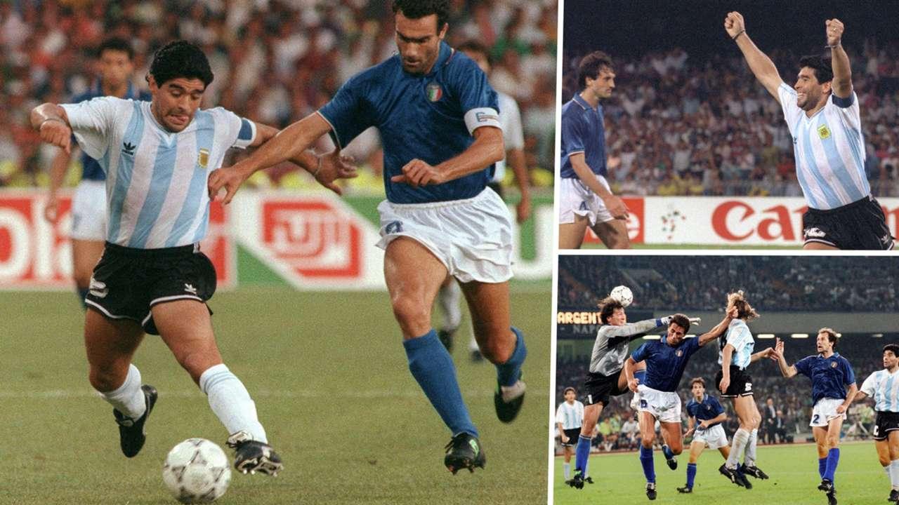 Diego Maradona Argentina Italy 1990 World Cup GFX