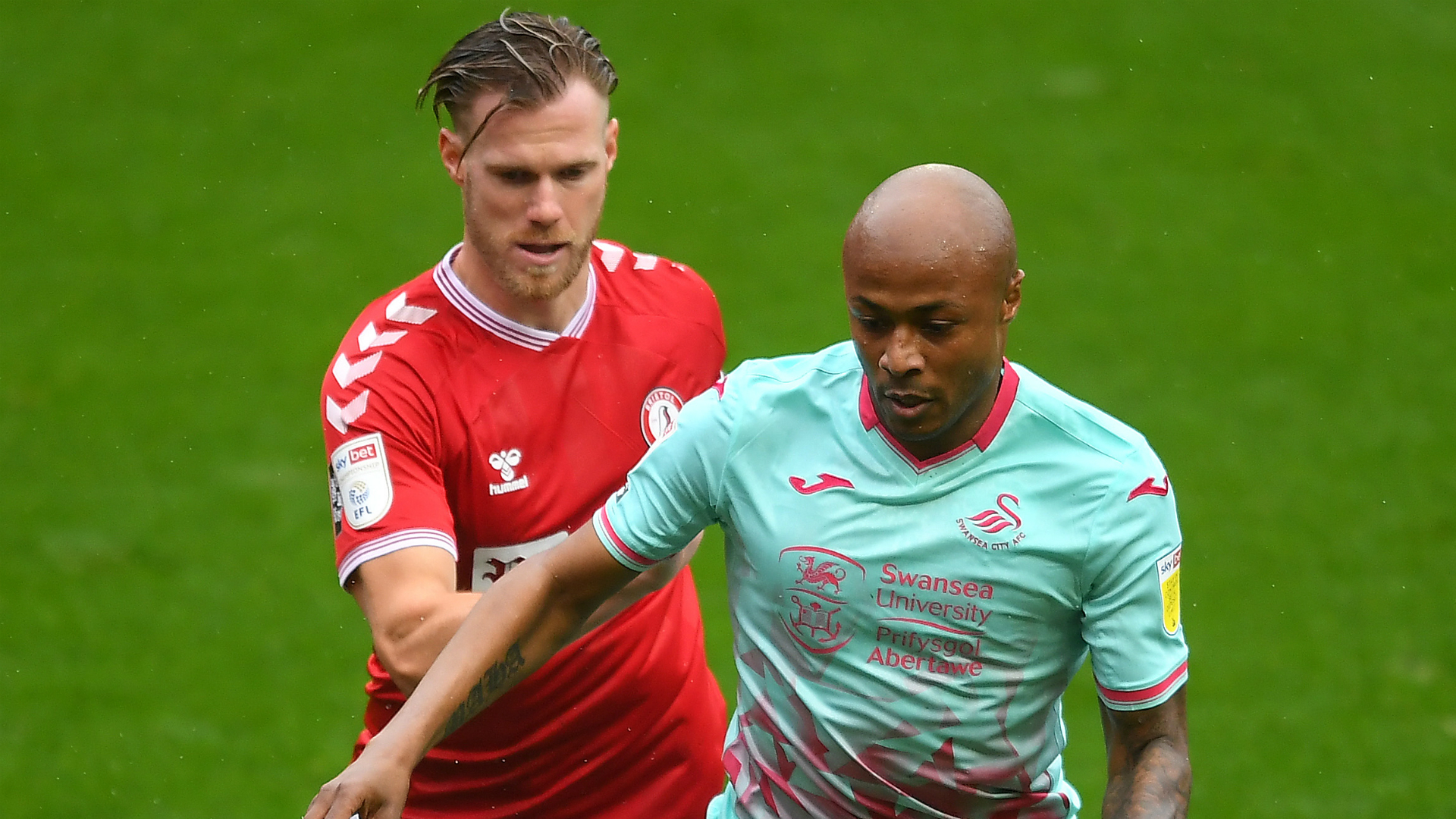 Ayew and Swansea scale over Ladapo's strike for Rotherham United in Championship