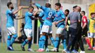 Napoli celebrating Spezia Serie A