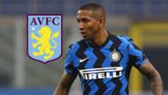 Ashley Young Aston Villa Inter main image