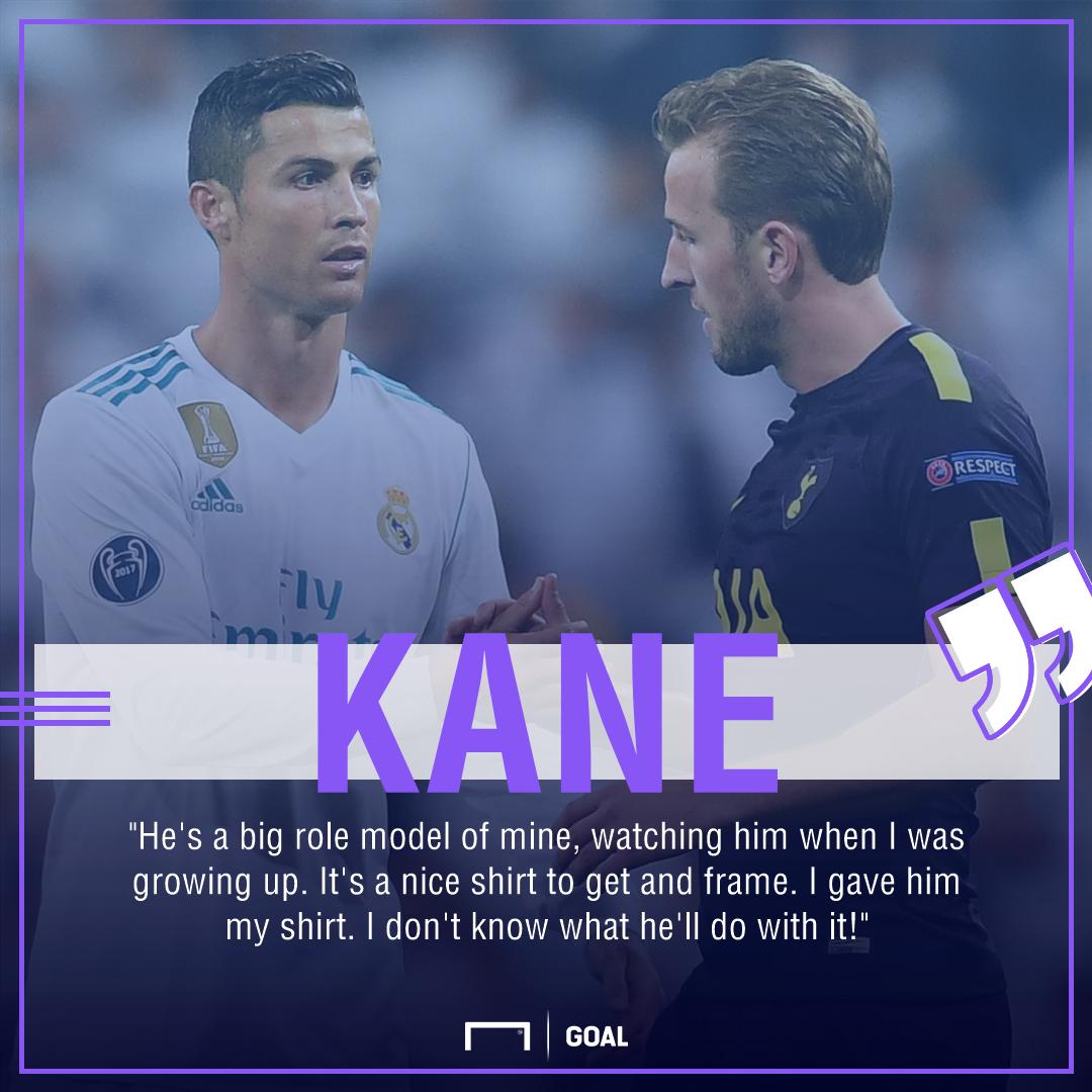 Harry Kane Cristiano Ronaldo role model shirt swap
