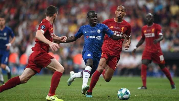 Andy Robertson, Kante, Fabinho, Liverpool vs Chelsea, UEFA Super Cup