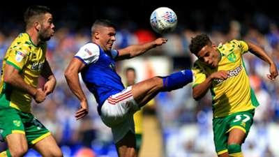 Grant Hanley Jon Walters Max Aarons Norwich City Ipswich Town 2018-19