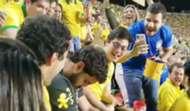 Torcedor brasileiro dorme Copa América