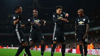 Jesse Lingard Ashley Young Paul Pogba Arsenal Manchester United Premier League