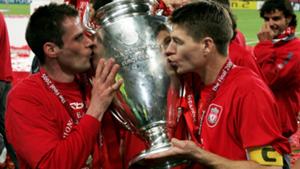 Steven Gerrard Jamie Carragher Liverpool Champions League 2005