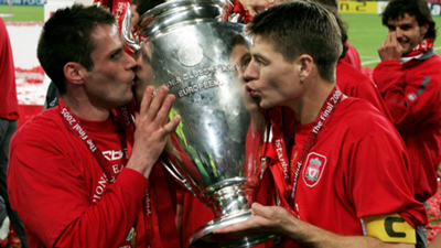 Steven Gerrard Jamie Carragher Liverpool Champions League 2005
