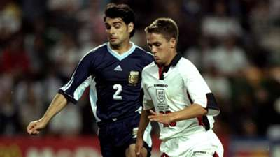 Roberto Ayala Argentina Michael Owen England World Cup 1998