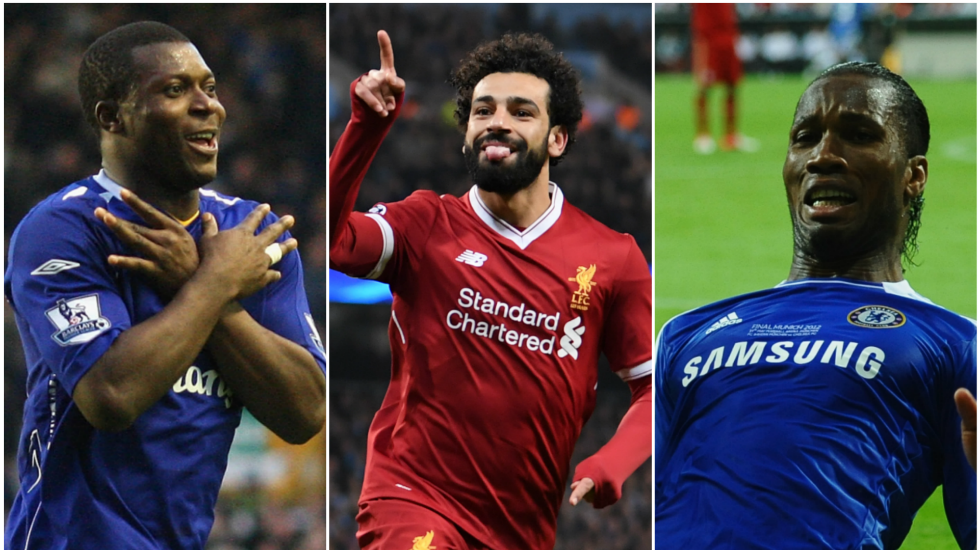 Mohamed Salah and Africa's top scorers in the Premier League