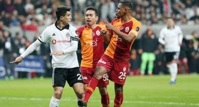 Necip Uysal Yuto Nagatomo Fernando Reges Besiktas Galatasaray Turkish Super League 12/02/18