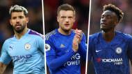 Premier League top scorers Aguero Vardy Abraham