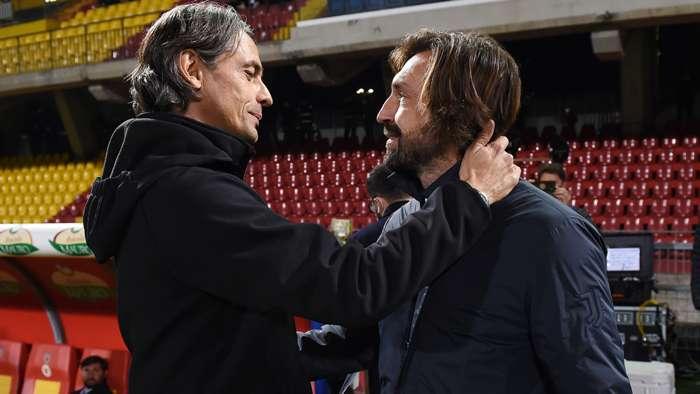 Pippo Inzaghi Andrea Pirlo Benevento Juventus GFX