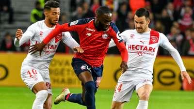 Jonathan Ikoné Denis Bouanga Lille Nimes Ligue 1 28042019