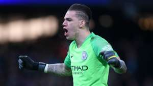 Spot of bother: Is Man City goalkeeper Ederson the answer to Pep's penalty problem?