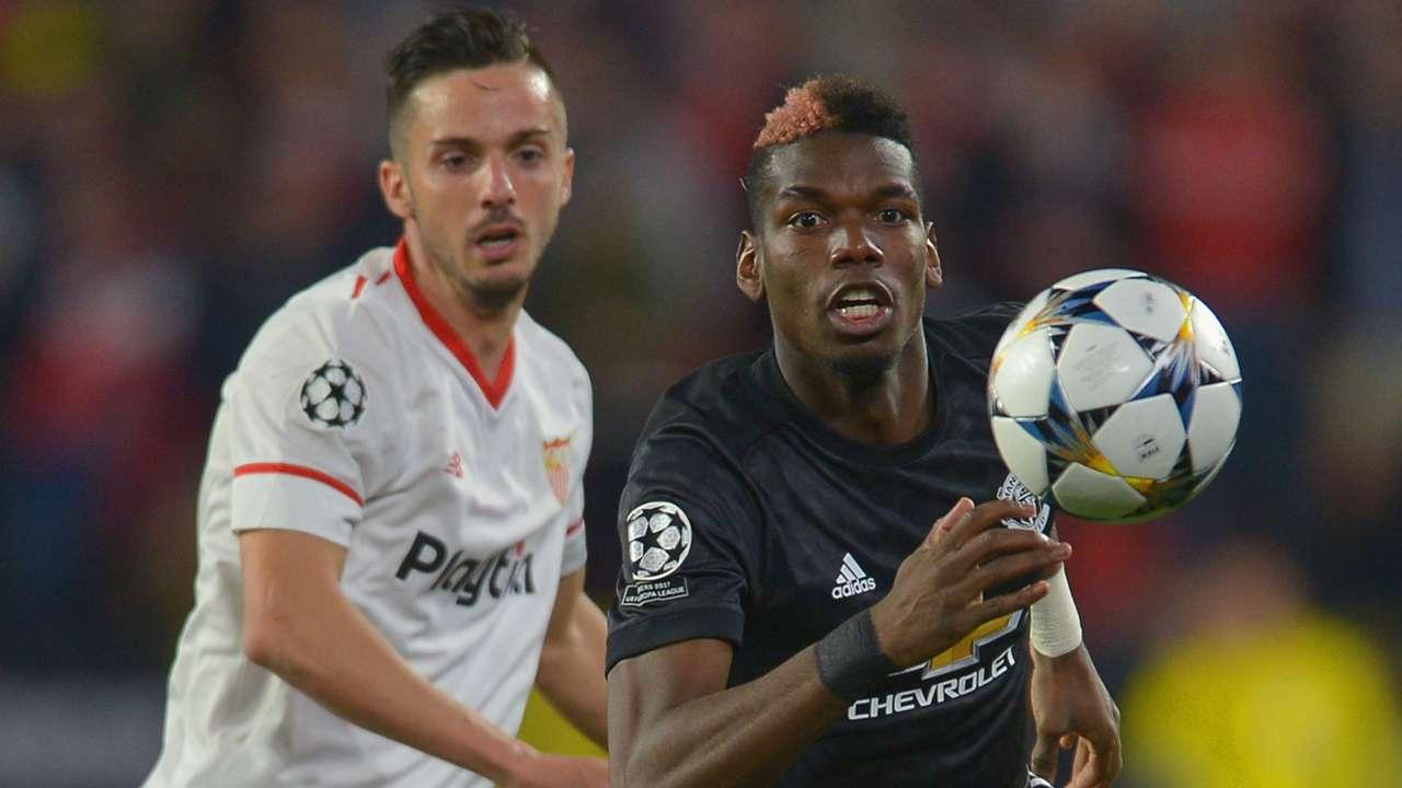 Paul Pogba, Manchester United, Pablo Sarabia, Sevilla