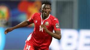 Michael Olunga of Harambee Stars and Kenya.