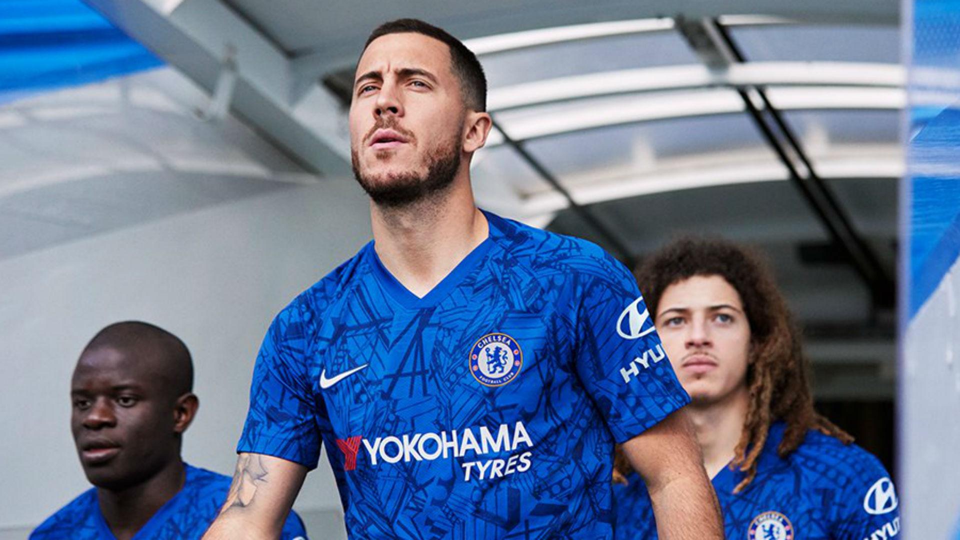 Chelsea new kit: Real Madrid target Eden Hazard front & centre as ...