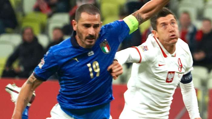 Bonucci Lewandowski Poland Italy Nations League