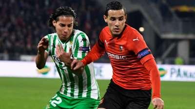 Diego Iainez Mehdi Zeffane Rennes Betis UEFA Europa League 14022019