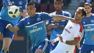 Bobby Wood Halil Altintop Hamburg Augsburg Bundesliga 043017