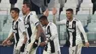 Juventus celebrating Juventus Parma Serie A