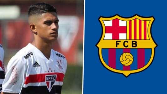 Barcelona sign Sao Paulo wonderkid Gustavo Maia & insert €300m release clause   Goal.com