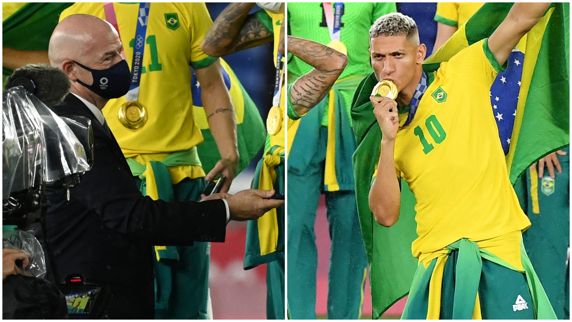 'Next year it'll be in Qatar, baldy!' - Richarlison ribs FIFA chief Infantino about World Cup reunion after Olympic gold
