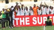 Kariobangi Sharks with KPL Superr Cup trophy.