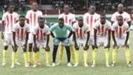 Kakamega Homeboyz line up against Gor Mahia.