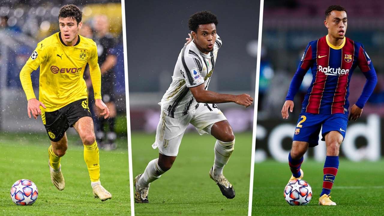 Gio Reyna Weston McKennie Sergino Dest USMNT Dortmund Juventus Barcelona GFX