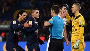 Edinson Cavani Marco Verratti Paris Saint-Germain Guingamp