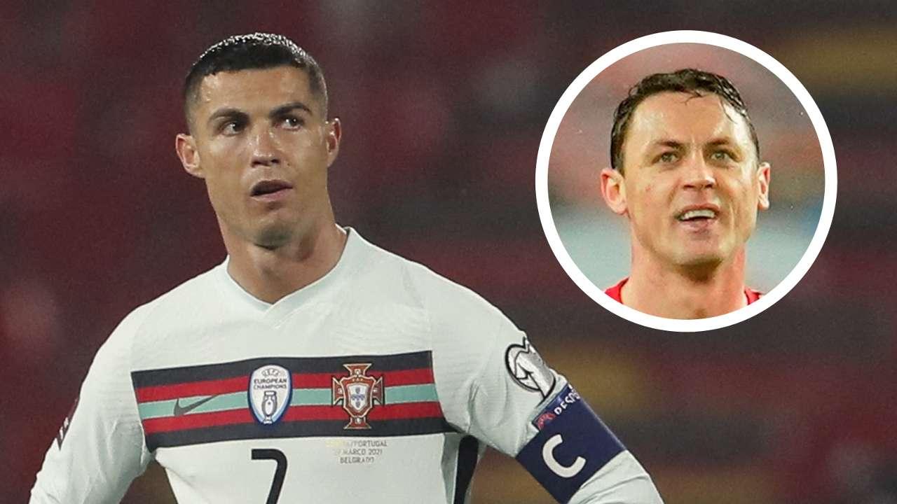 Cristiano Ronaldo, Nemanja Matic overlay