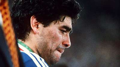Diego Maradona Argentina 1990 World Cup final