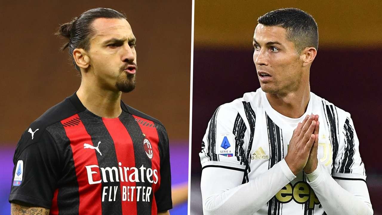 Zlatan Ibrahimovic Cristiano Ronaldo AC Milan Juventus GFX