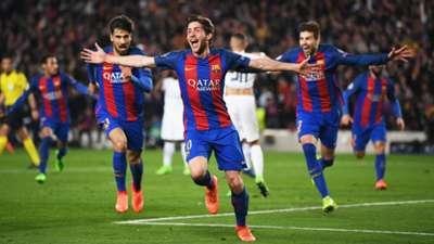 Sergi Roberto Barcelona PSG 2016-17