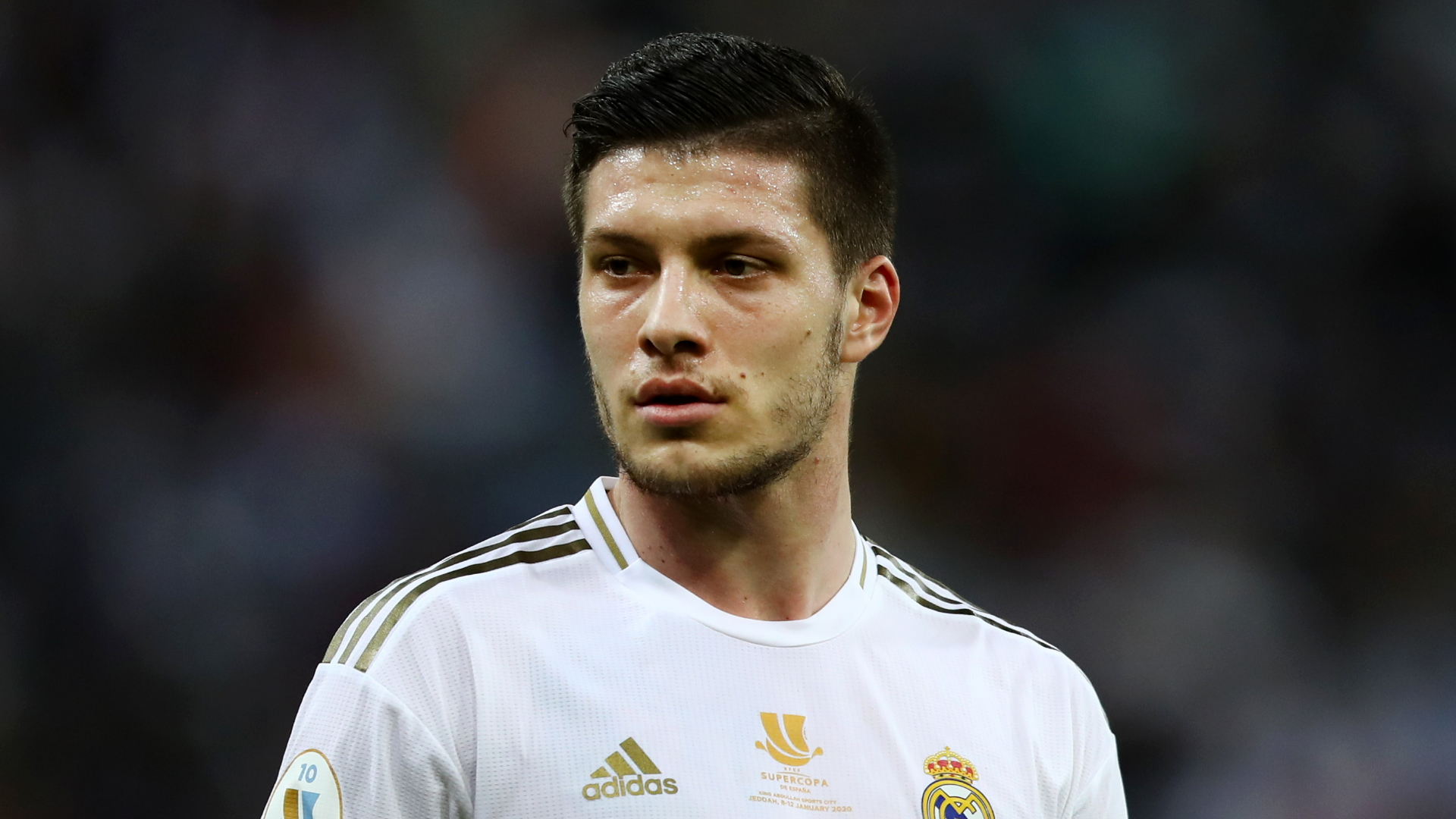 Real Madrid striker Jovic returns injured from lockdown