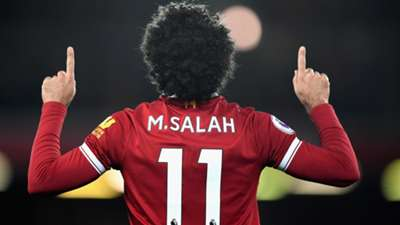 Mohamed Salah Liverpool celebration 2018-19