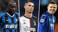 Romelu Lukaku Cristiano Ronaldo Josip Ilicic Inter Juventus Atalanta GFX