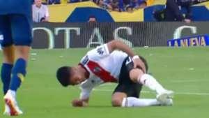CAPTURA Lesion Pity Martinez Boca River Superclasico Superliga 23092018