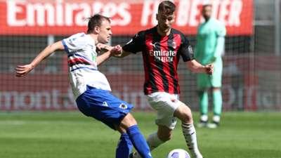 Damsgaard Saelemaekers Milan Sampdoria