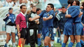 Diego Maradona Greece 1994 World Cup