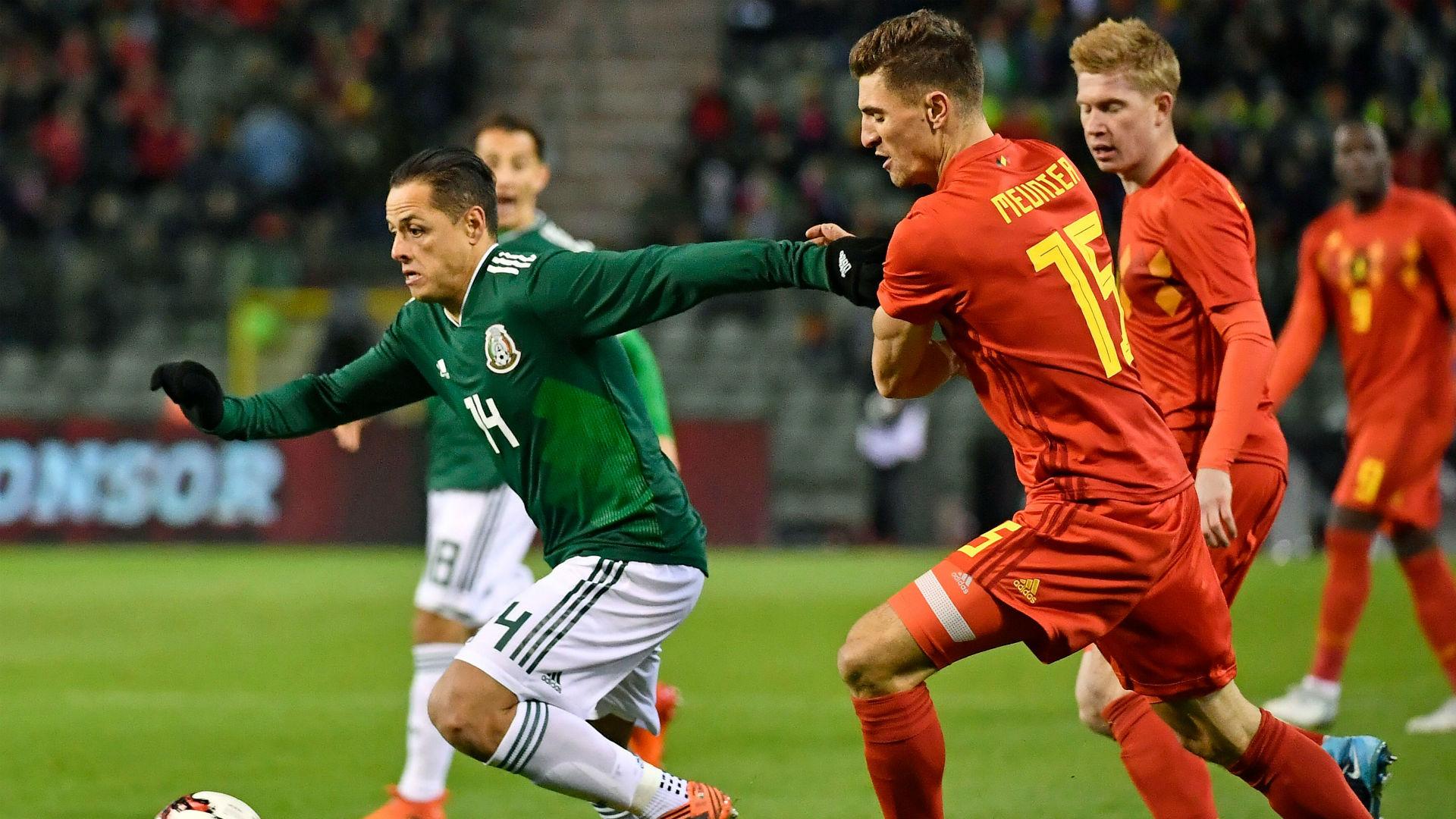 Javier Hernandez Thomas Meunier Belgiun Mexico international friendly